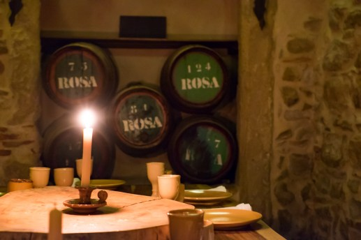 At a delicious medieval restaurant in Tomar, Portugal (35mm, 1/5s, f4.5, ISO 5000)