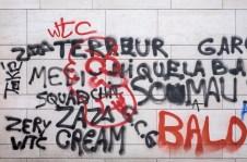 Graffiti near the Palace of Fine Arts (Brussels, Belgium)