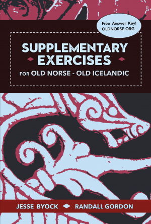 The cover for Supplementary Exercises for Old Norse - Old Icelandic