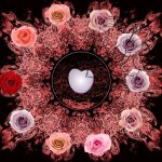 Roses circle hearts entwined