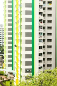 White high rises