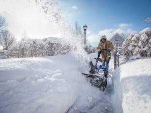 Plowing snow in St. Paul