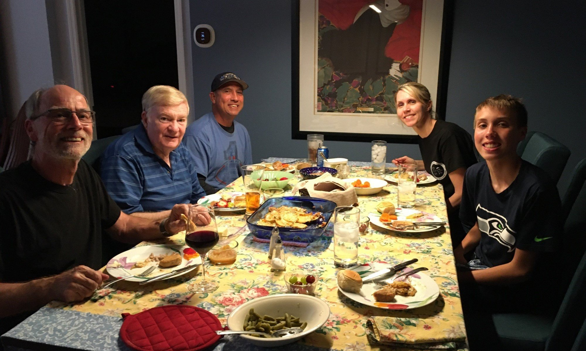 Jay having dinner with Terrence's family