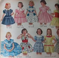 Patterns for little girls' dresses in the 1950s