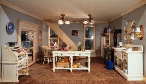 Furnished dollhouse