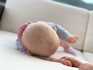 Blonde newborn