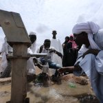 Water well in South Sudan