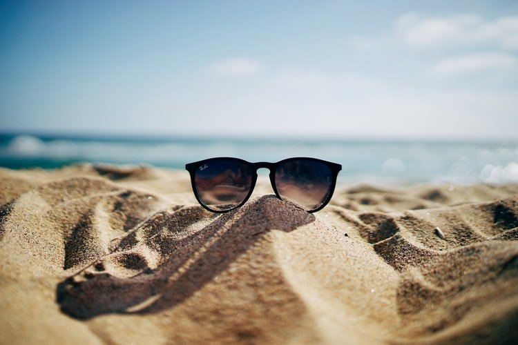 Beach with sunglasses