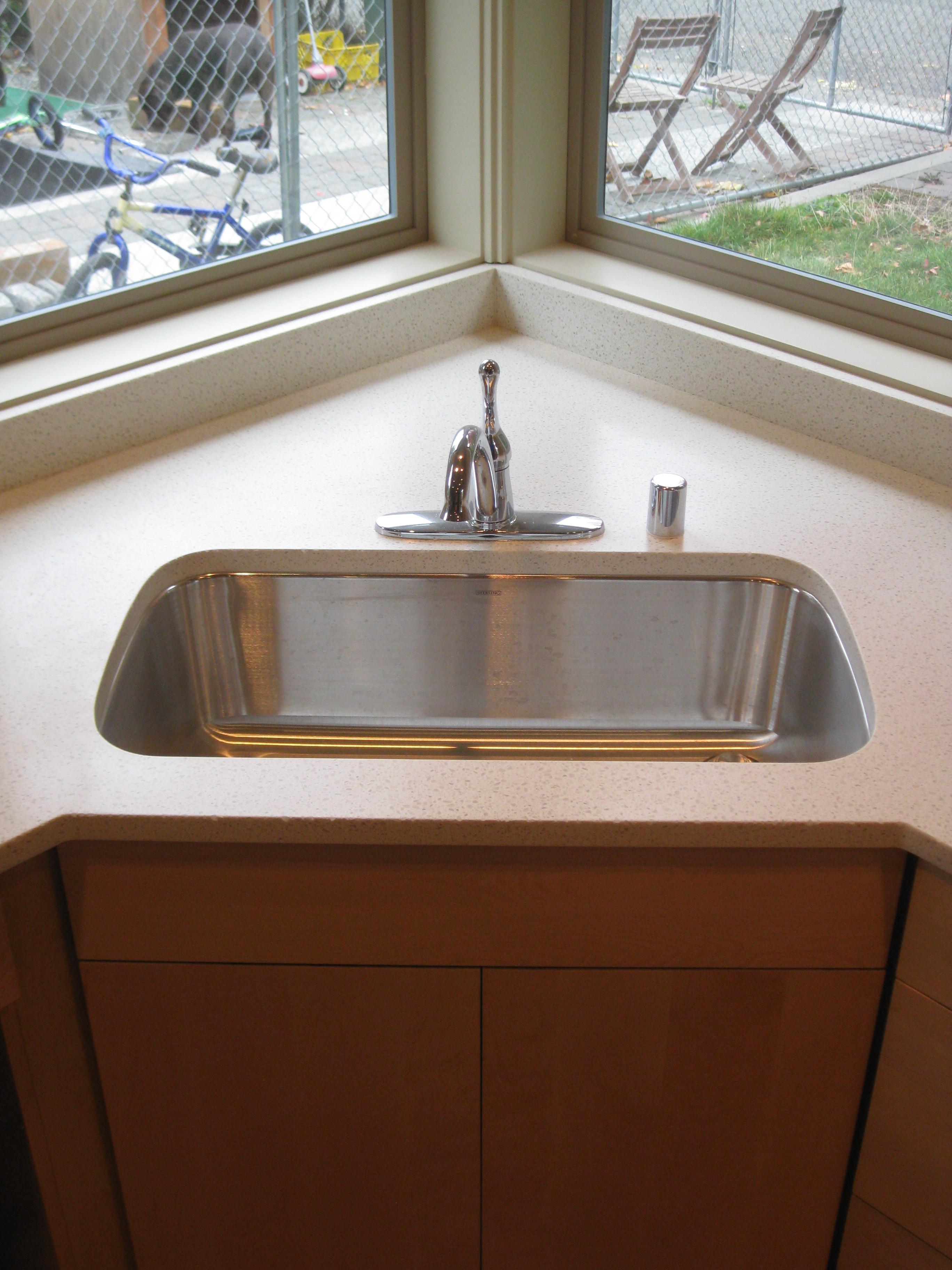 corner sinks kitchen sprayer modern julie howe gwinn 39s blog