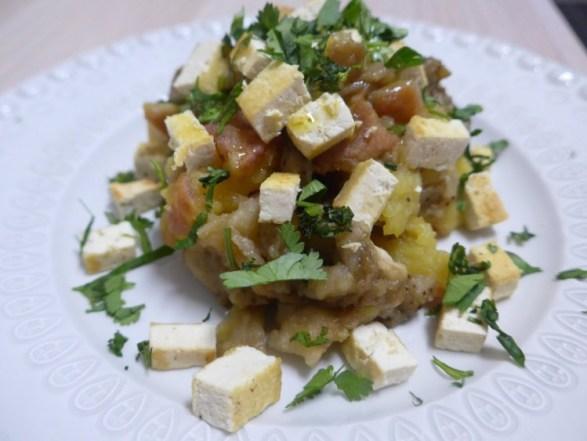 Menu para a semana inteira salada-tofu