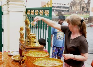 My Mother Dumping Water Over the Buddhas