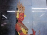 Oil Paintings on Tile from Cambodia