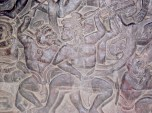 Stone Carvings on an Ancient Temple Wall