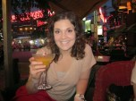 Enjoying Drinks and Food at Night Market in Siam Reap, Cambodia