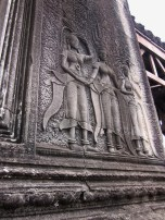 Stone Carvings of Women at Angkor Wat and Surrounding Temples