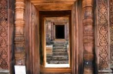 Peering Through the Doorway of Temple Ruins