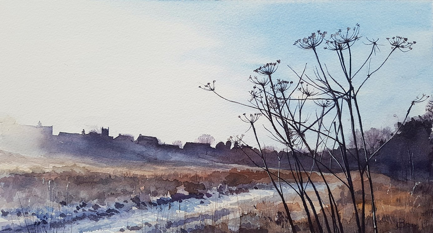 Winter Morning With Seedheads, 2019, Watercolour | Julia Brown