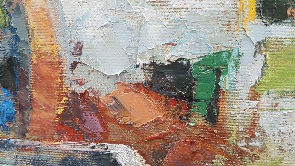 Threlkeld II Paint on Canvas Detail