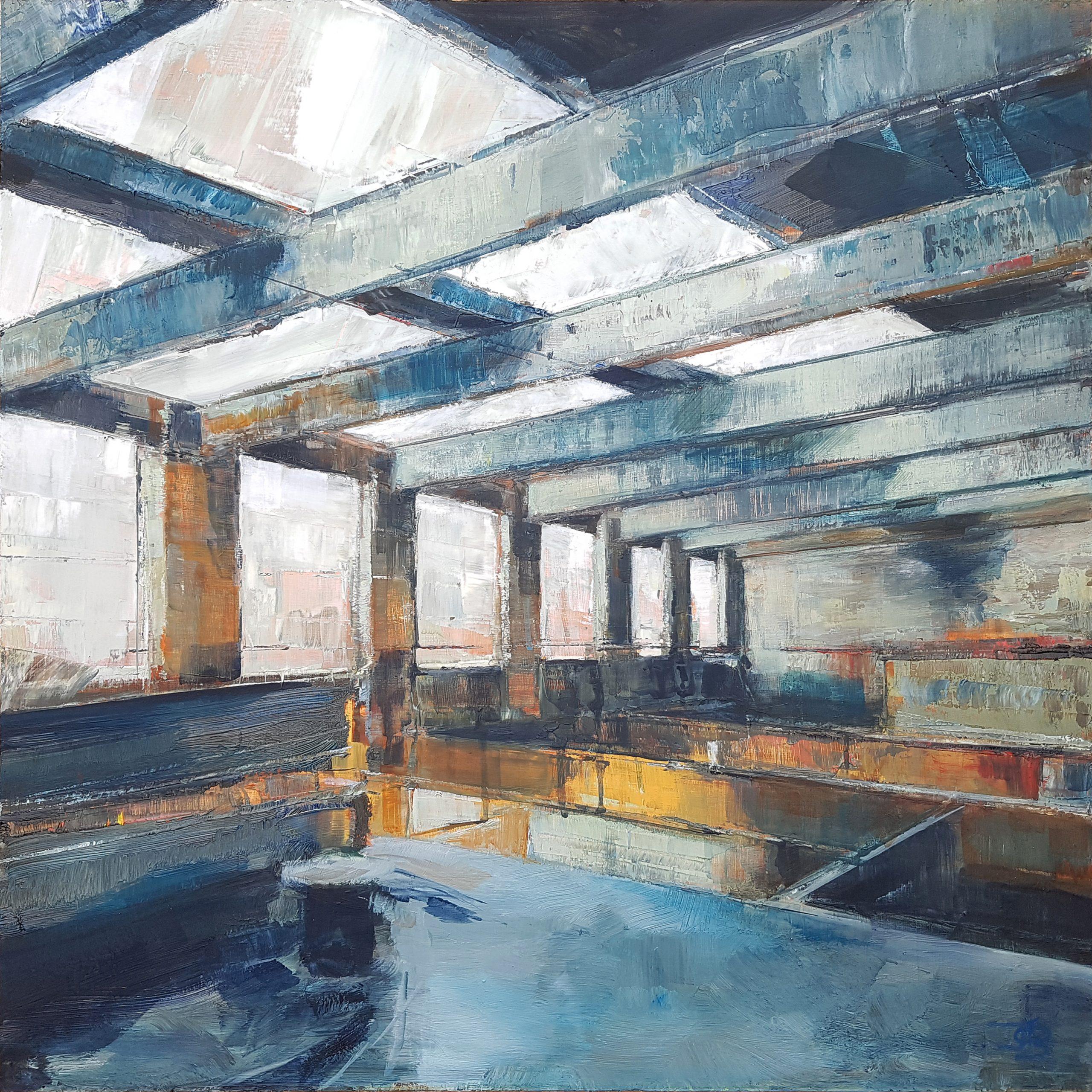 Edge, 2020, Oil on board, 45 x 45cm | Julia Brown