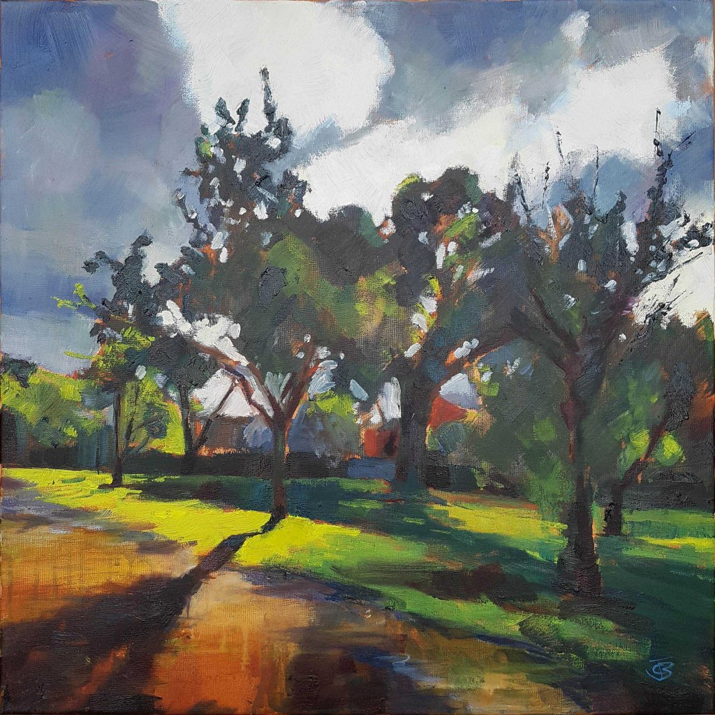 Sundown in Isolation, 2020, Oil on canvas, 50.8 x 50.8cm (£850)   Julia Brown
