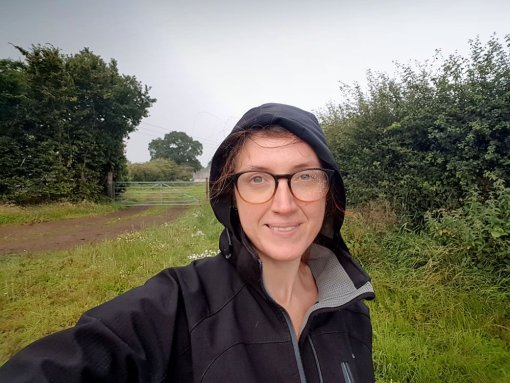 August 2020 Walk - Soggy Day Selfie | Julia Brown