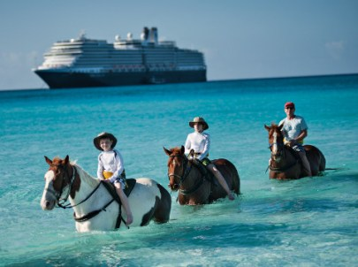 horseback riding excursion for families Holland America