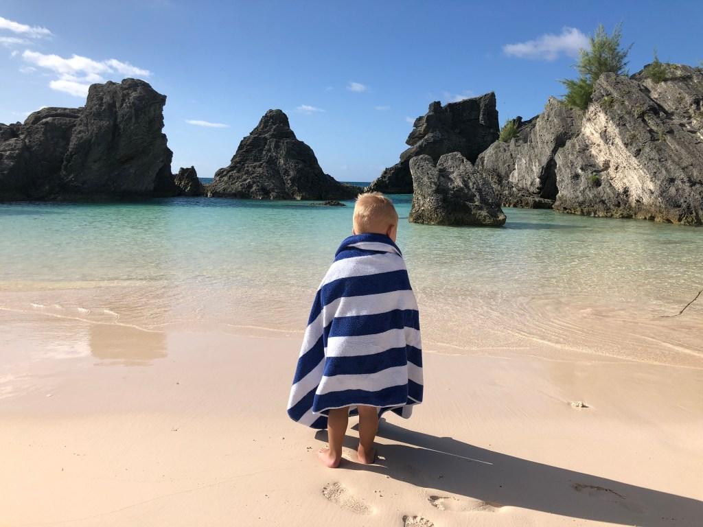 boy Baby Beach Bermuda