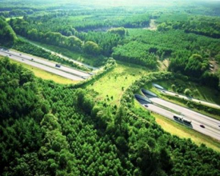 Ecoduct De Woeste Hoeve over the highway A50, Netherlands