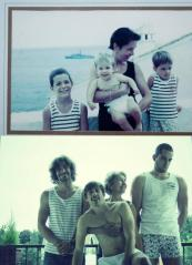 then and now family portrait