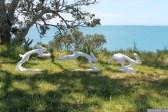 NZ Sculpture OnShore Nov 2012 (96) Nick Dryden 'Boxing Hares'