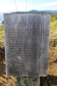 """""""The white beach in the distance marks Kapo Wairua - Spirits Bay. It's name comes from the ancestor Tohe some 700 years ago, when he departed from that place on a journey."""" (Read the second paragraph on the photo)"""