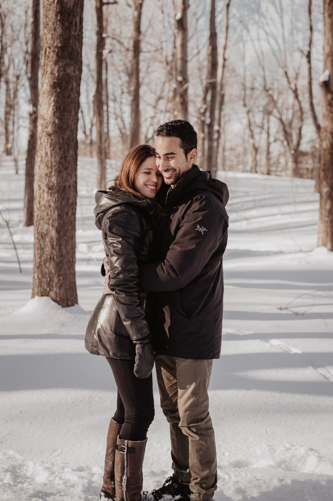 Mount Royal winter engagement