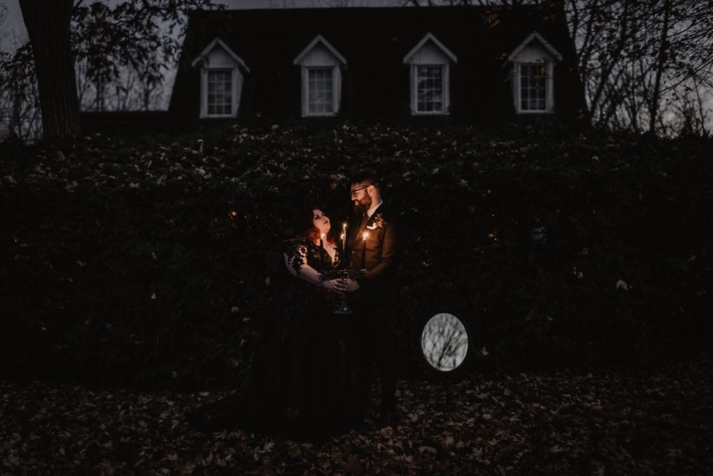 halloween wedding at night