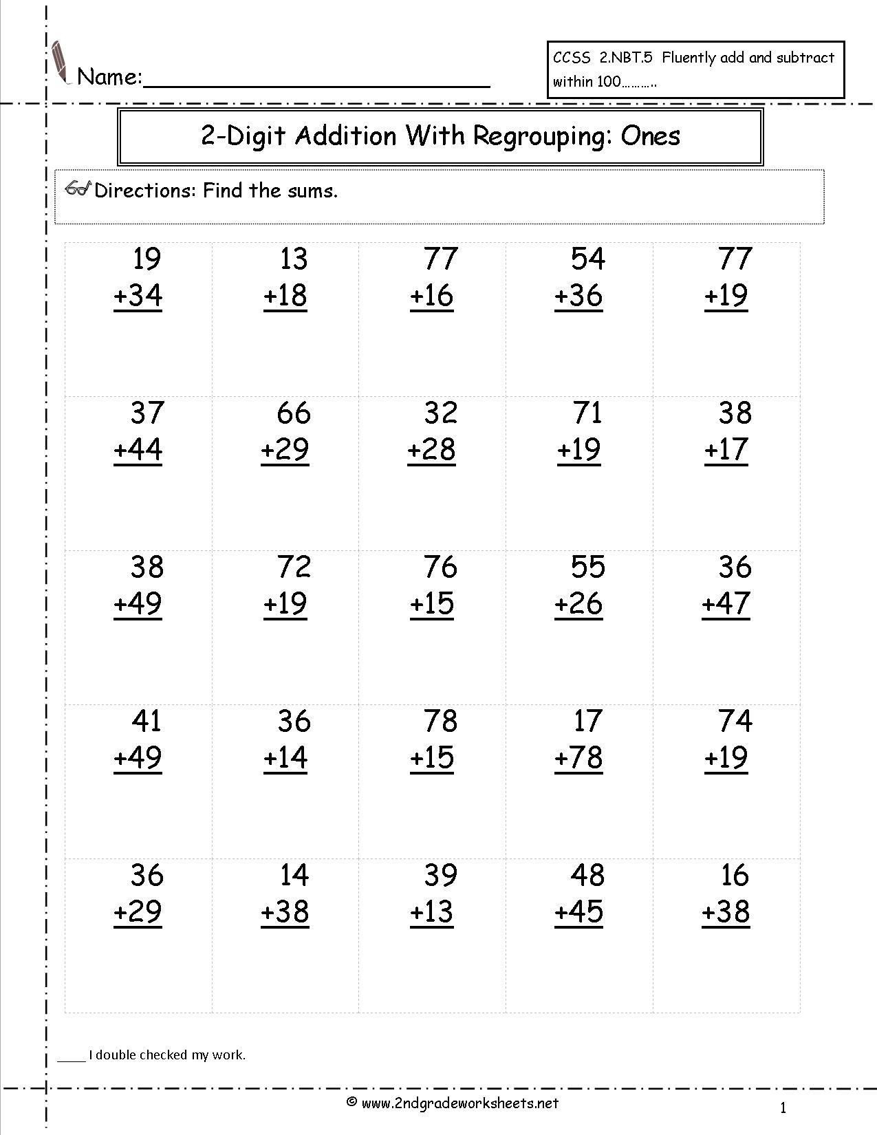 Decomposing Numbers 2nd Grade Worksheets