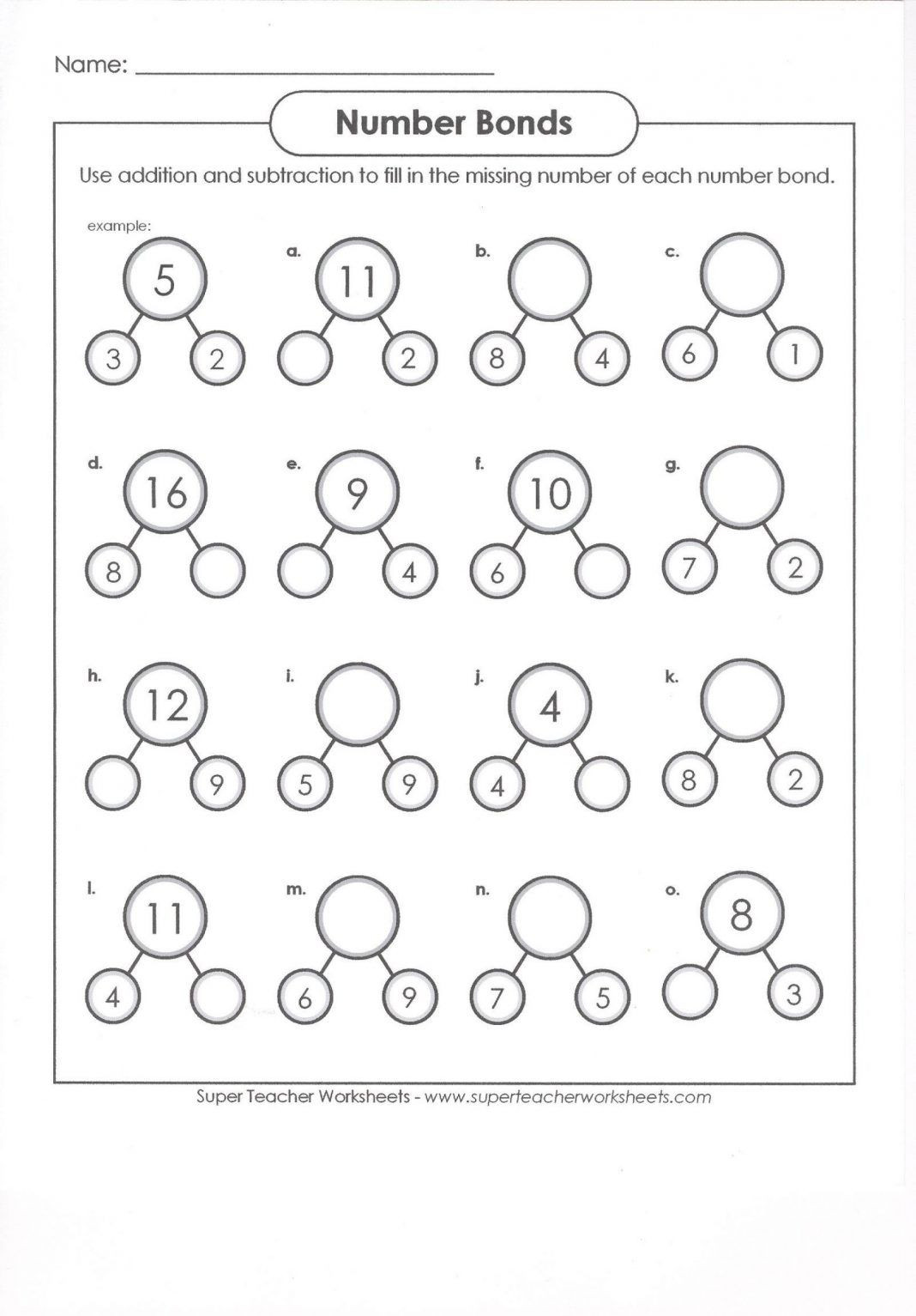 hight resolution of Number Bonds Worksheets First Grade – Template Library