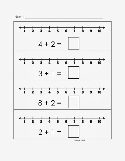 small resolution of Kindergarten Subtraction Worksheet With Number Line   Printable Worksheets  and Activities for Teachers