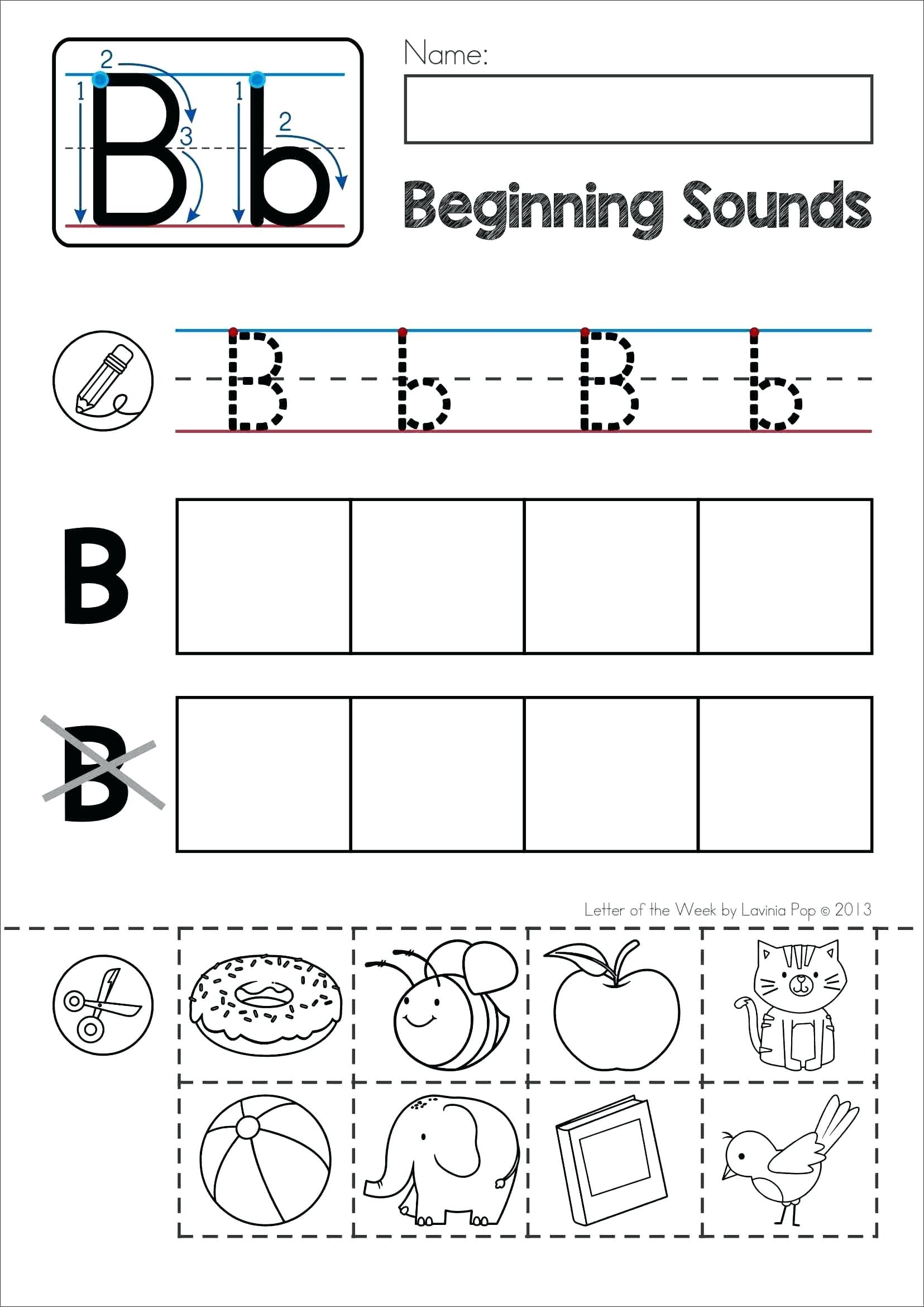Letter Sound Worksheets For Kindergarten