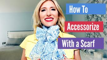 how to accessorize a dress with a scarf