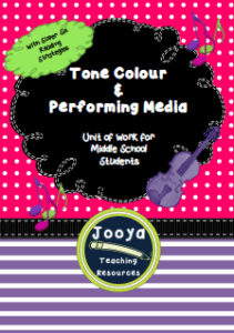 Tone Colour and Performing Media Unit of Work