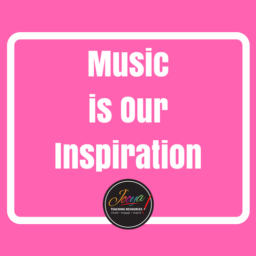 Music in Our Schools Month Blog Post from Jooya Teaching Resources. Read the post and collect some FREEBIES for your classroom or studio.