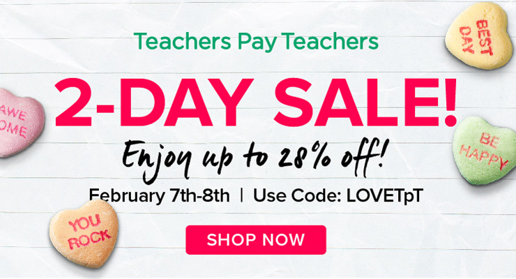 Sale time at Jooya Teaching Resources for February 7 and 8 2017. Enjoy up to 28% off.