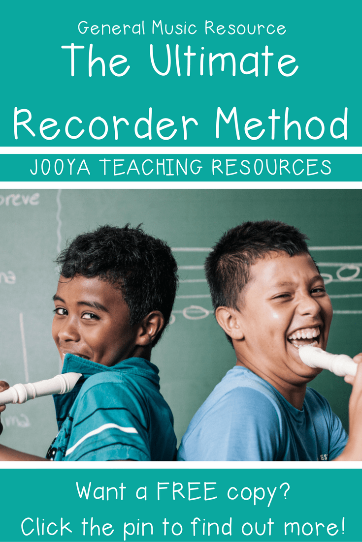 How to Teach Recorders Like a Boss blog post from Jooya Teaching Resources
