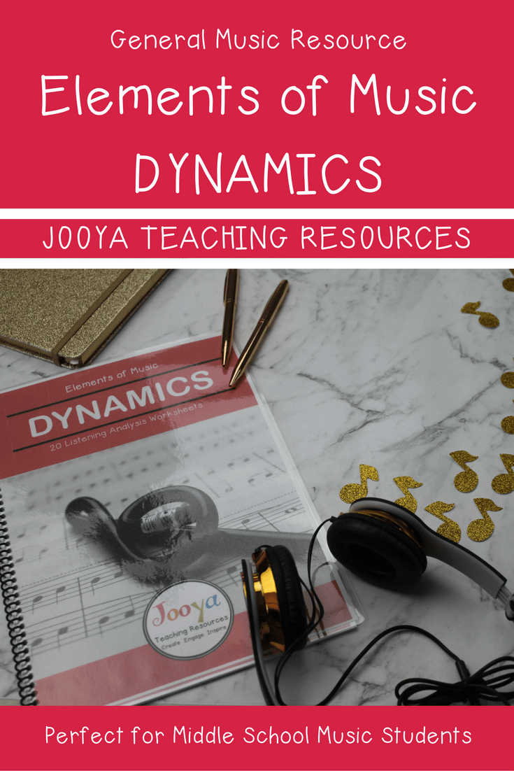 Elements of Music and the Super Six – Dynamics blog post from Jooya Teaching Resources.