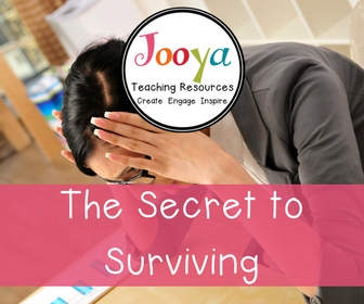 The Secret to Surviving this Time of Year Stress Free blog post from Jooya Teaching Resources.