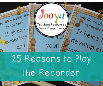 25 Reasons to play the Recorder blog post from Jooya Teaching Resources