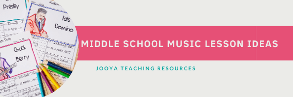 Check out these 3 middle school music lesson ideas that will engage and inspire your general music students. This collection of printable music worksheets are great music history appreciation teaching resources. #JooyaTeachingResources