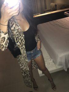 cheetah drape top