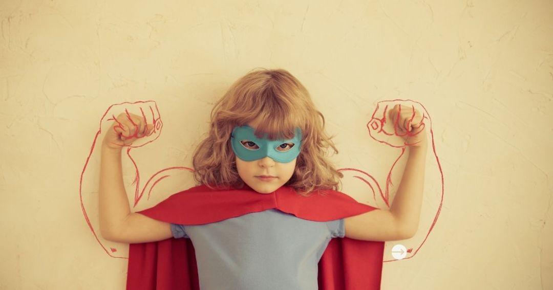 Coaching mocnych stron, mocne strony, talenty, dziewczynka, superwoman