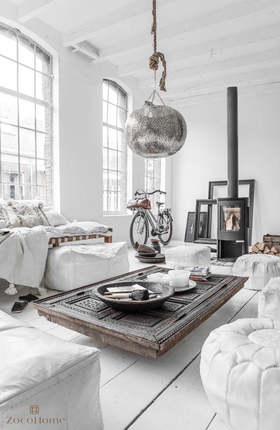 White Boho Home