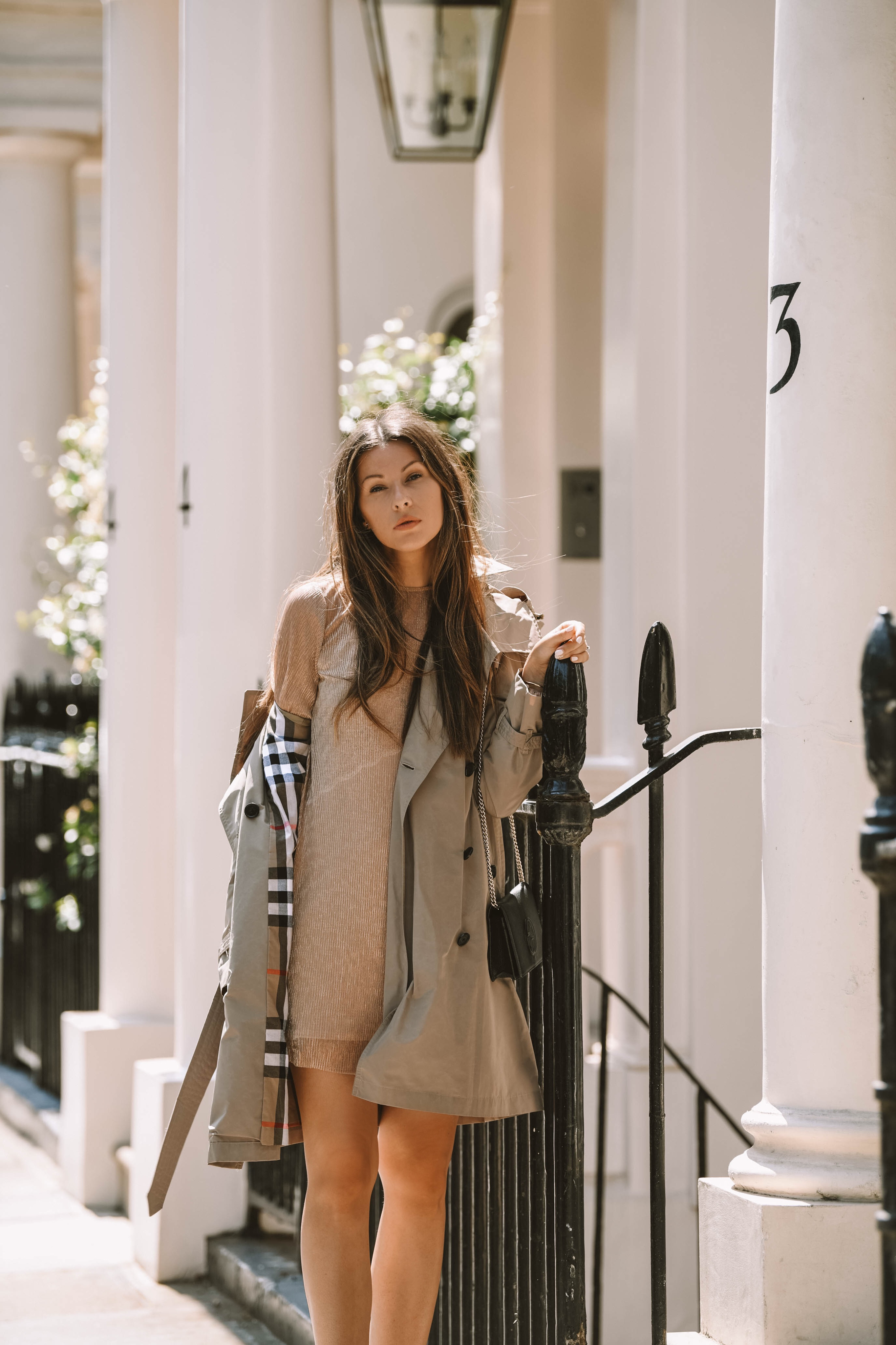 Styling Burberry trench